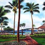 Maui Awaits, watercolor by Jenny Floravita