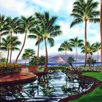 Maui Reflections, watercolor by Jenny Floravita