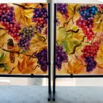 Floravita's glass table art panels