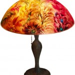 "Ambiance, 16"" Reverse Painted Lamp Shade by artist Jenny Floravita"