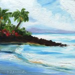 Mid Morning Beach, Kauai Painting by Jenny Floravita