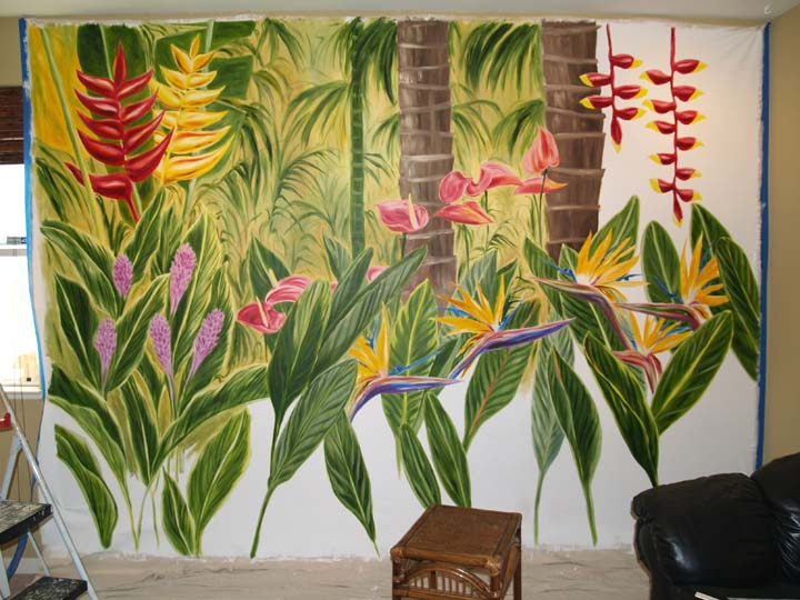 mural with background begun