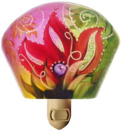 Floravita Abstract Painted Nightlight P50328591