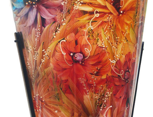 Contemporary Vase Sconce, painted glass wall sconce