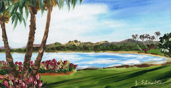 Jenny Floravita Tropical Hawaii Kauai Beach Painting 42 10
