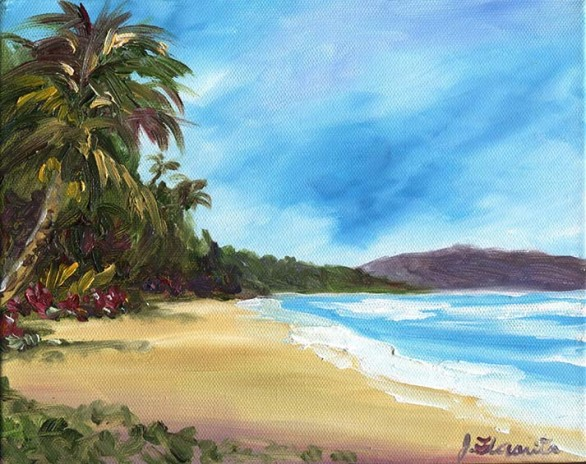 Waimanalo Beach painting