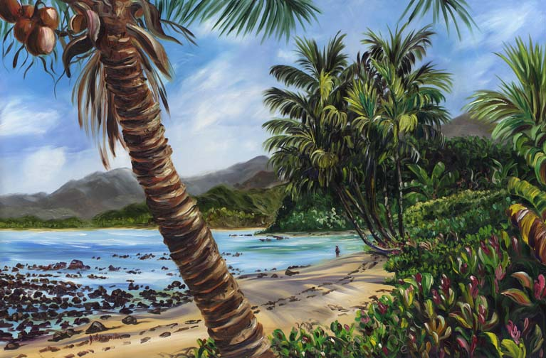 About Jenny Floravita S Tropical Oil And Watercolor Paintings