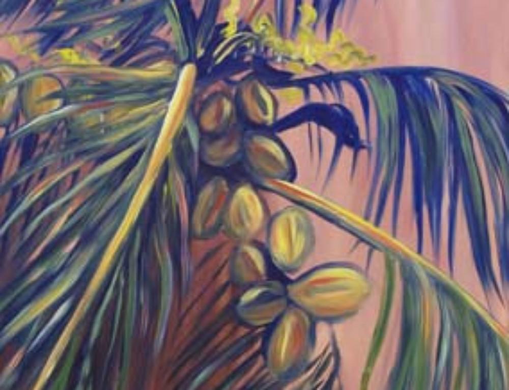 Summer Evening Coconut Palm