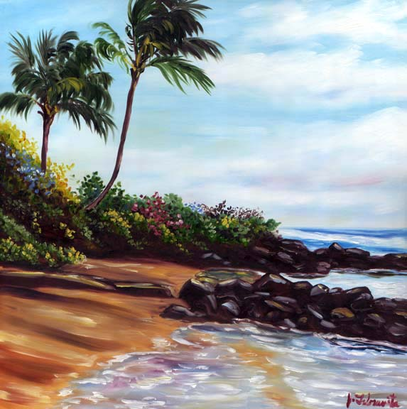 Kauai beach painting