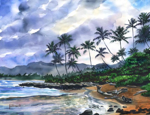 Coconut Coast Daybreak in Kauai