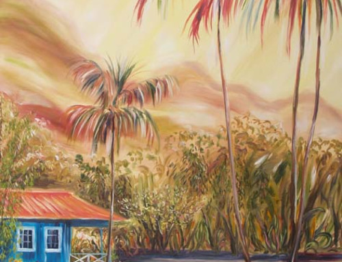 Large Commissioned Waimea Plantation Cottage Painting