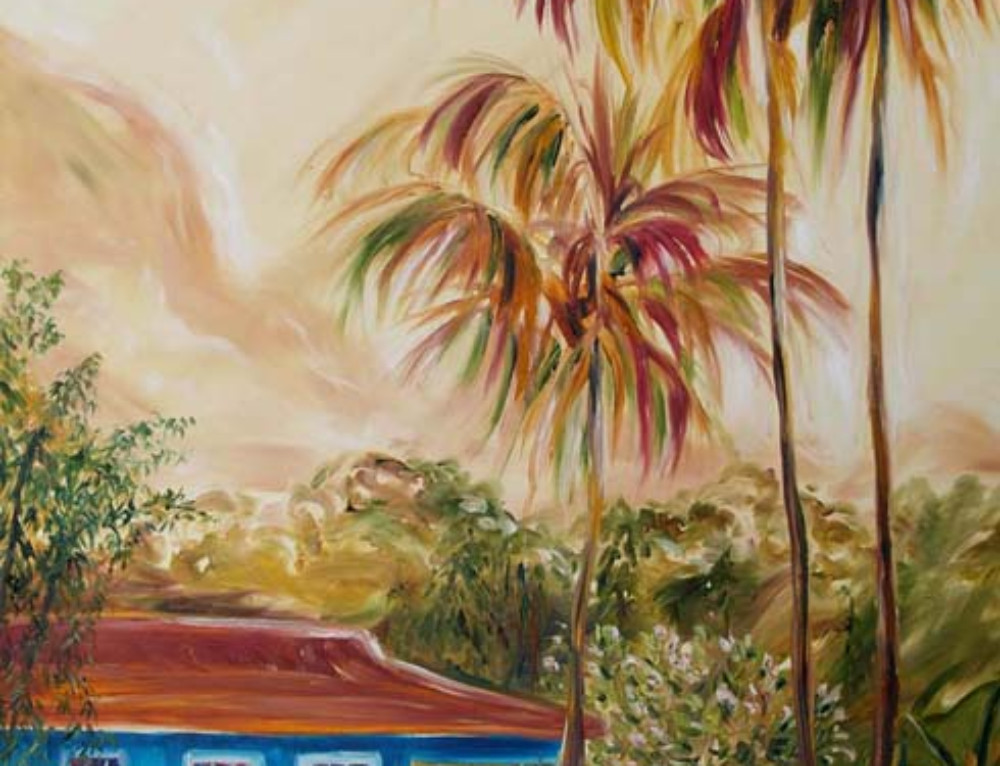 Waimea Plantation Cottage Painting—First Light