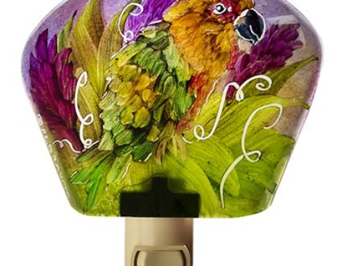 Parrot Night Light pink ginger Birds of our World 17