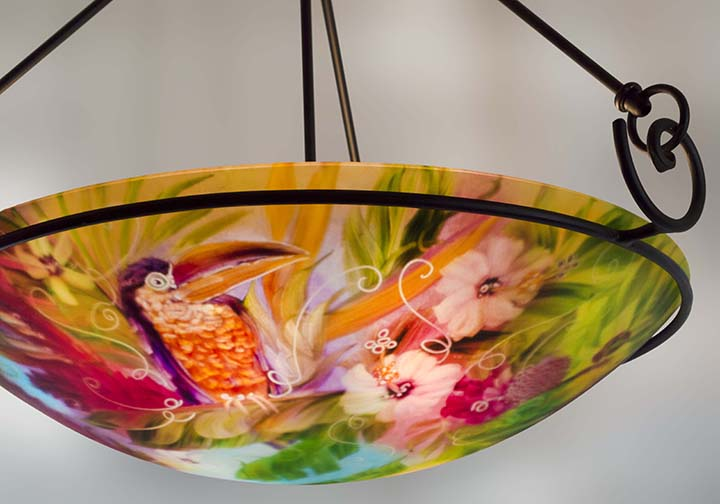 Tropical Toucan and Parrot Chandelier available Floravita – Tropical Chandelier