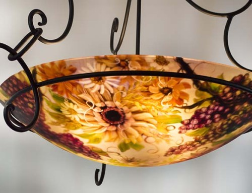 Autumn Napa Wine chandelier by Jenny Floravita