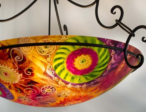 36 inch Earth and Suns abstract chandelier