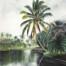 tropical lake painting