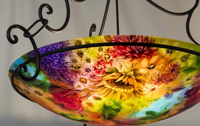 hand painted chandelier art light