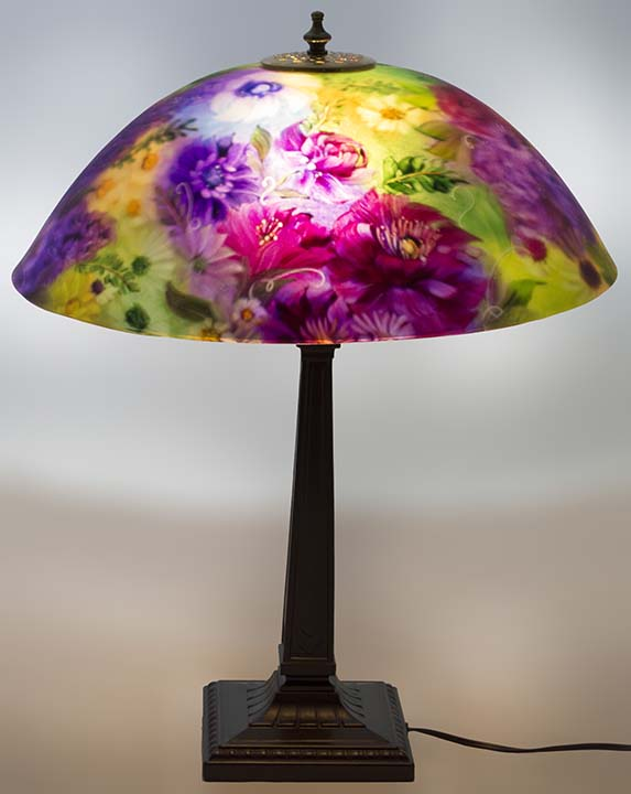 modern reverse painted lamp shades