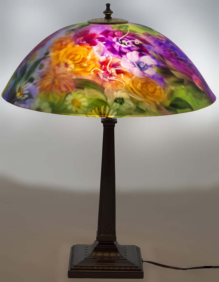 Japanese Hand Painted Lamp Shade Replacement