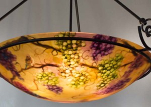 umber vineyard painted chandelier