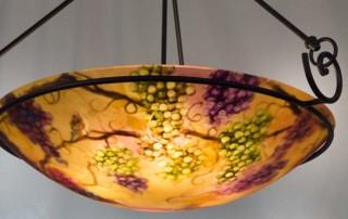 umber vineyard painted chandelier