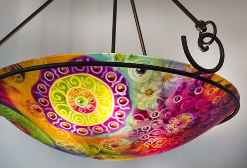 Sedona glass art chandelier