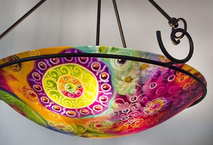 Abstract sedona glass art chandelier jenny floravita reverse painted sedona glass art chandelier aloadofball Images