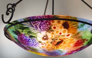 mixed flower hand painted chandelier
