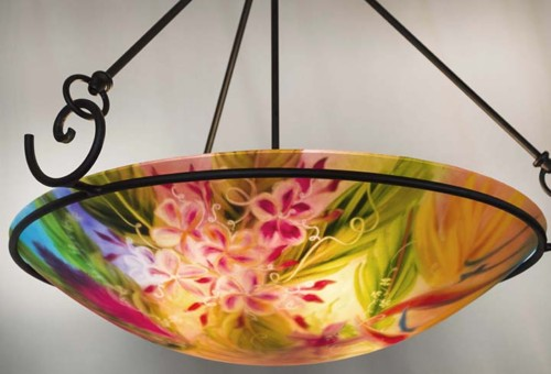Lahaina summer painted chandelier
