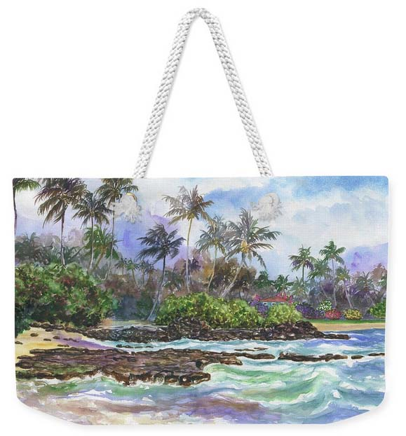 stylish Hawaiian tote bag