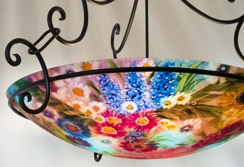 sedona hand painted chandelier