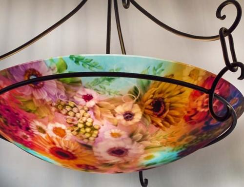 Blush of Flowers and Vineyards Pendant Light