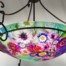 mixed flower pendant light
