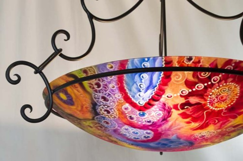 Santa Fe Painted Chandelier