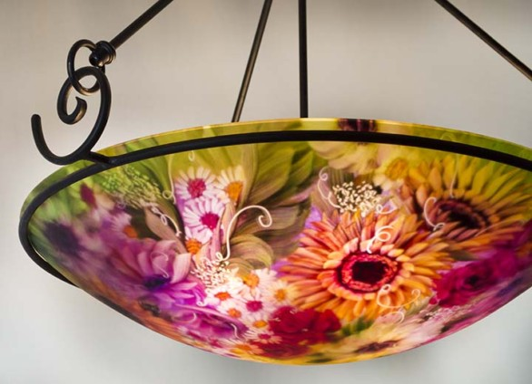 Cambria glass art chandelier is hand crafted by artist jenny floravita 4 17 aloadofball Gallery