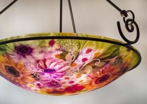 Cambria glass art chandelier