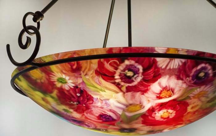 reverse painted chandeliers in Durango