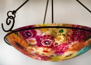Durango reverse painted chandelier