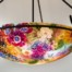 Vineyard Garden reverse hand painted glass chandelier