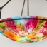 Flower Garden reverse painted chandelier