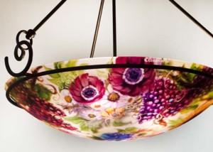 Napa Vineyard reverse painted chandelier