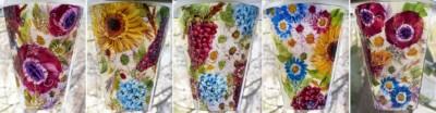 Napa Vineyard inspired Glass Wall Art