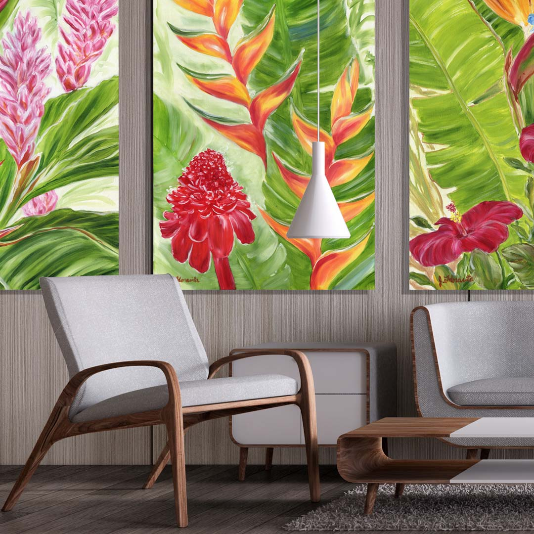 Live Tropical With The Modern Hawaiian Flower Collection By Artist